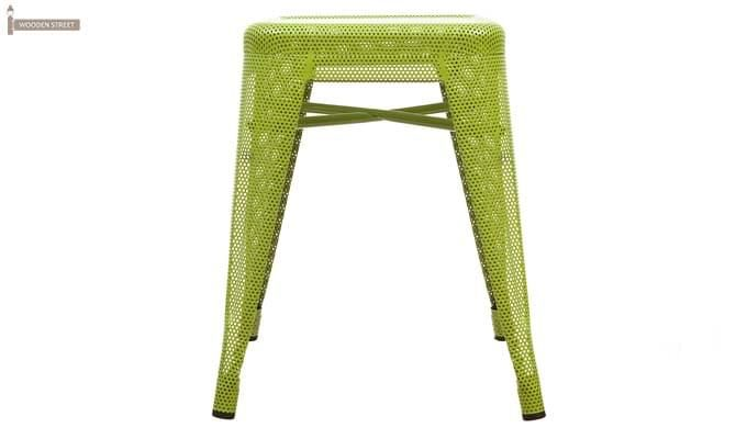 Ursula Iron Stool (Green)-2