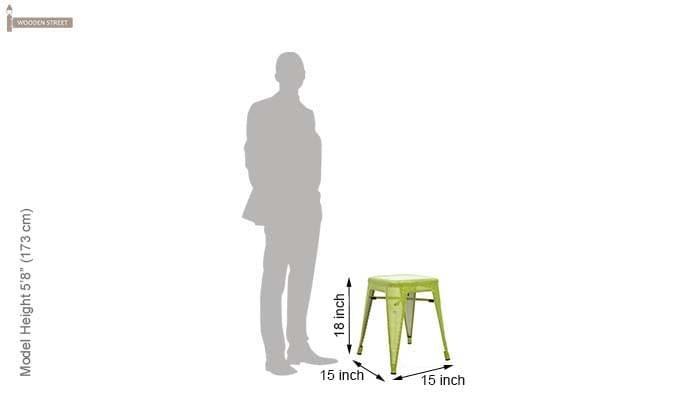 Ursula Iron Stool (Green)-4