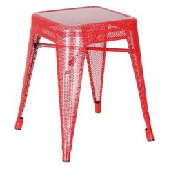 Ursula Iron Stool (Red)