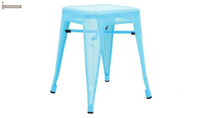 Ursula Iron Stool (Sky Blue)-1