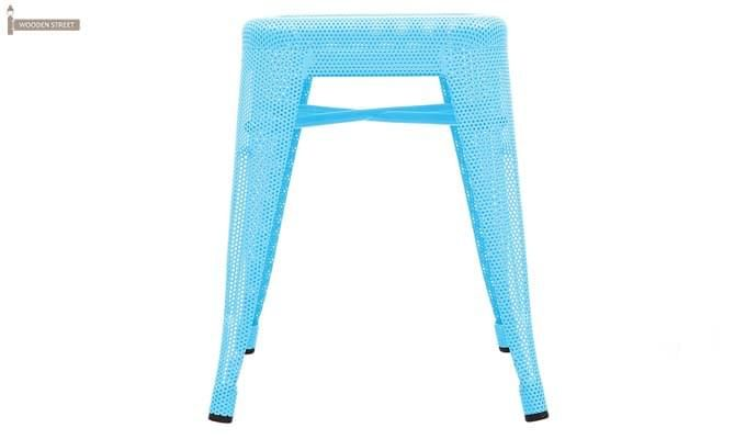 Ursula Iron Stool (Sky Blue)-2
