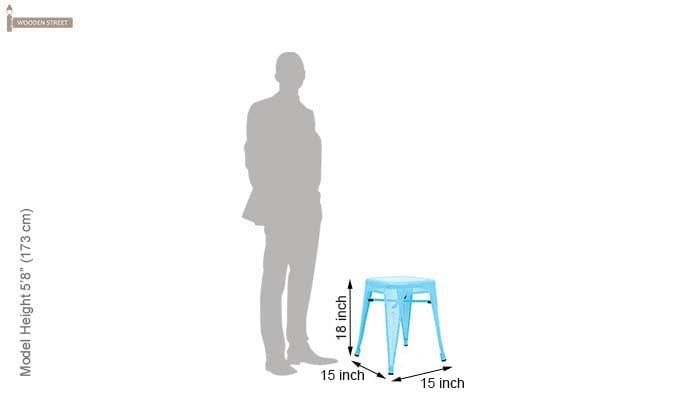Ursula Iron Stool (Sky Blue)-4