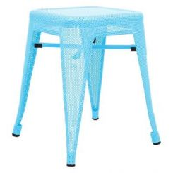 Ursula Iron Stool (Sky Blue)