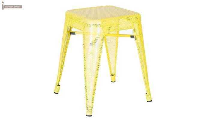 Ursula Iron Stool (Yellow)-1