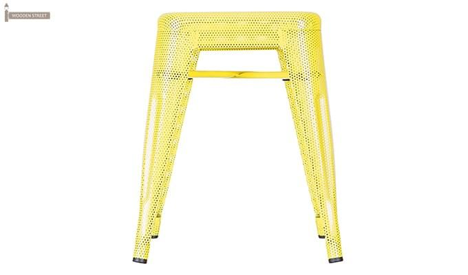 Ursula Iron Stool (Yellow)-2