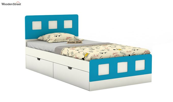 Blueberry Kids Bed With Storage (Celestial Blue)-2
