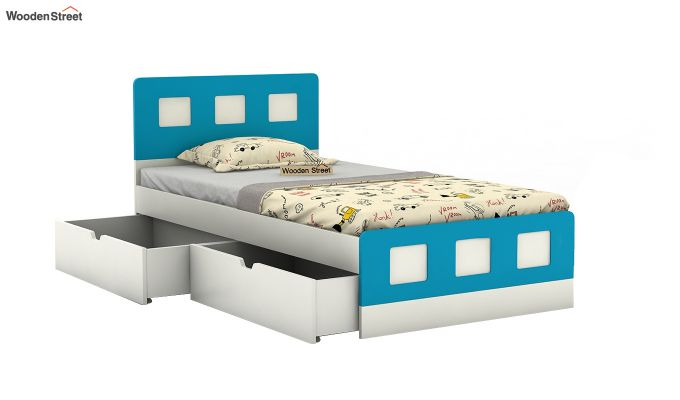 Blueberry Kids Bed With Storage (Celestial Blue)-4