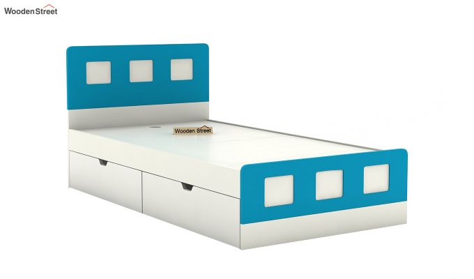 Blueberry Kids Bed With Storage (Celestial Blue)-5
