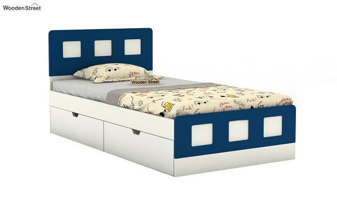 Blueberry Kids Bed With Storage (Electric Blue)-2