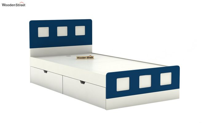 Blueberry Kids Bed With Storage (Electric Blue)-5
