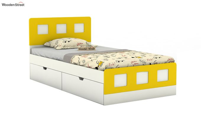 Blueberry Kids Bed With Storage (Marigold Yellow)-2
