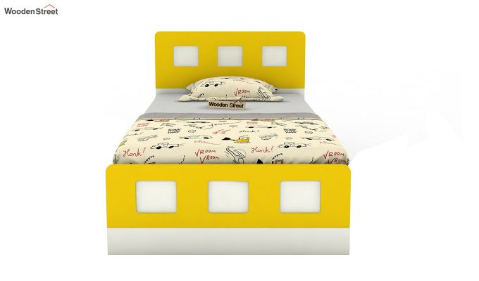 Blueberry Kids Bed With Storage (Marigold Yellow)-3