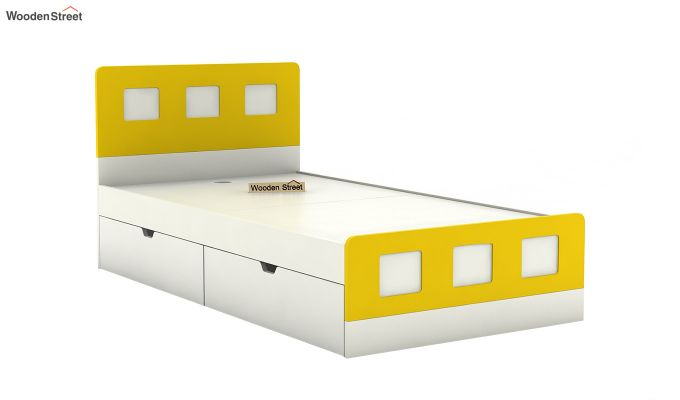 Blueberry Kids Bed With Storage (Marigold Yellow)-5