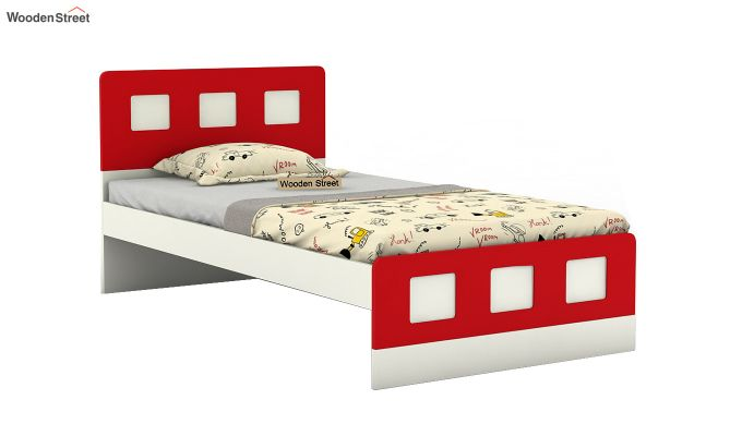 Blueberry Kids Bed Without Storage (Cardinal Red)-2