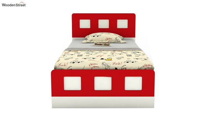 Blueberry Kids Bed Without Storage (Cardinal Red)-3