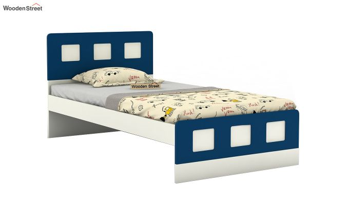 Blueberry Kids Bed Without Storage (Electric Blue)-2