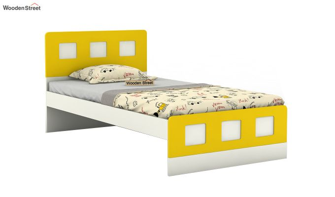 Blueberry Kids Bed Without Storage (Marigold Yellow)-2