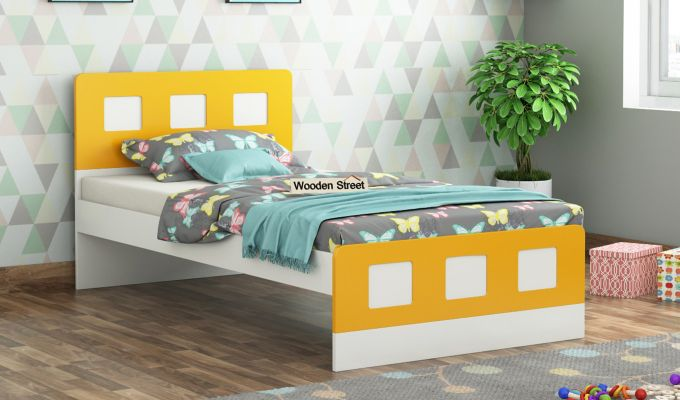Blueberry Kids Bed Without Storage (Marigold Yellow)-1