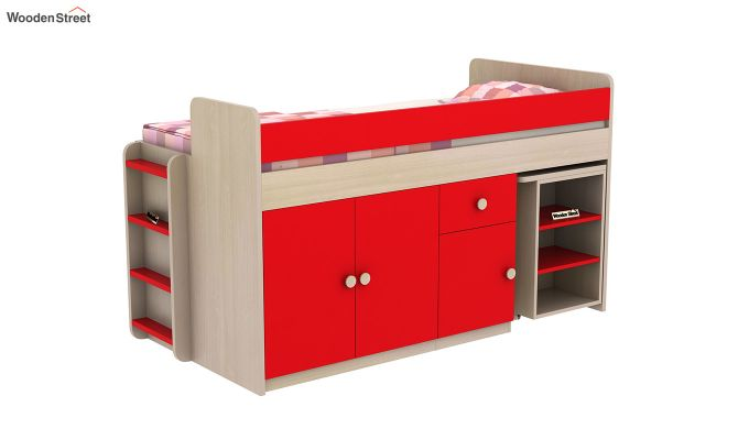Canary Bunk Bed (Cardinal Red)-3