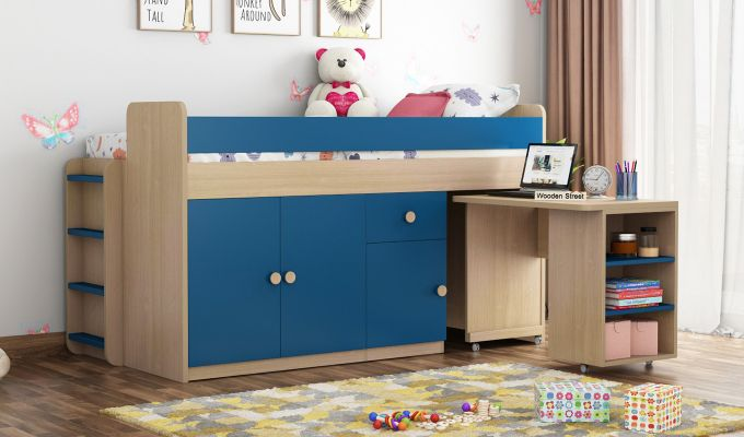 Canary Bunk Bed (Electric Blue)-2