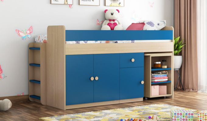 Canary Bunk Bed (Electric Blue)-1