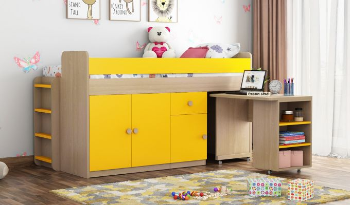 Canary Bunk Bed (Marigold Yellow)-2