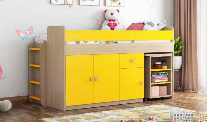 Canary Bunk Bed (Marigold Yellow)-1