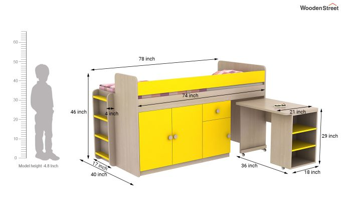 Canary Bunk Bed (Marigold Yellow)-13