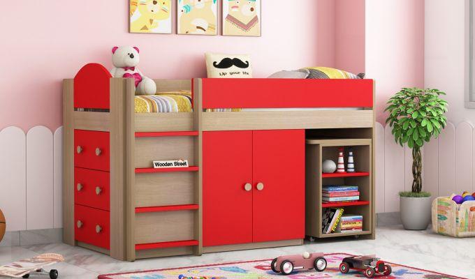 Crissa Bunk Bed (Cardinal Red)-1
