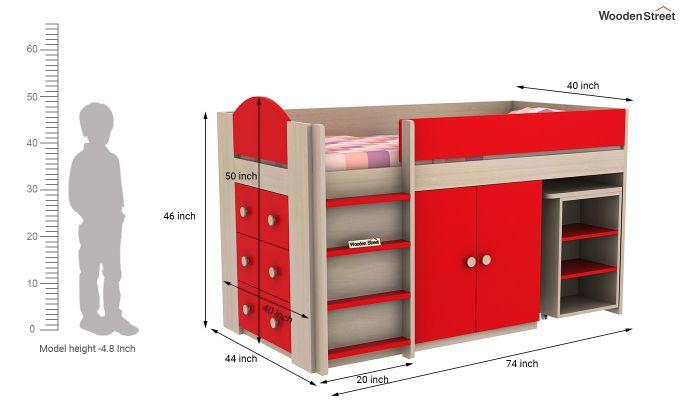 Crissa Bunk Bed (Cardinal Red)-11