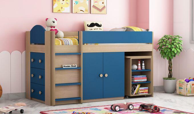 Crissa Bunk Bed (Electric Blue)-1
