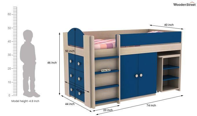 Crissa Bunk Bed (Electric Blue)-11