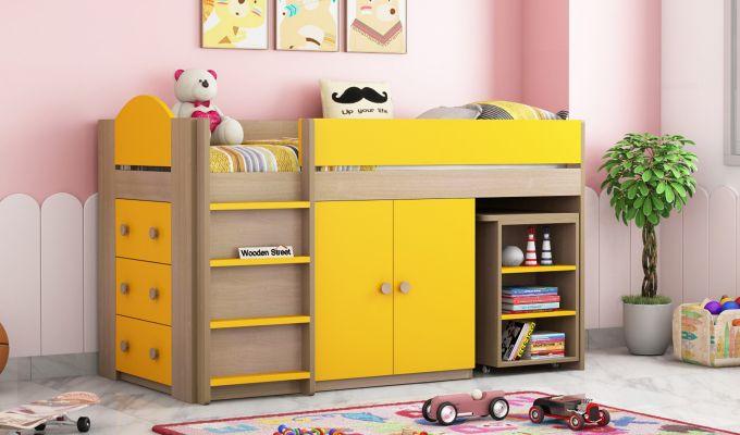 Crissa Bunk Bed (Marigold Yellow)-1