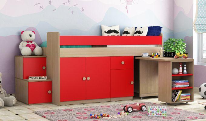 Grace Bunk Bed (Cardinal Red)-2