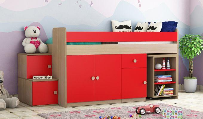 Grace Bunk Bed (Cardinal Red)-1