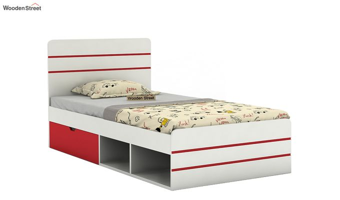 Honeydew Kids Bed With Storage (Cardinal Red)-2