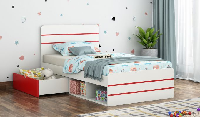 Honeydew Kids Bed With Storage (Cardinal Red)-1