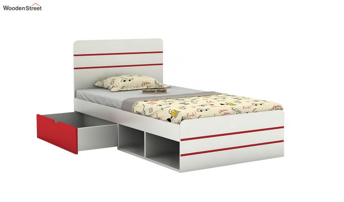 Honeydew Kids Bed With Storage (Cardinal Red)-4