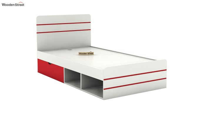 Honeydew Kids Bed With Storage (Cardinal Red)-5