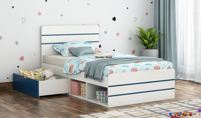 Honeydew Kids Bed With Storage (Electric Blue)-1