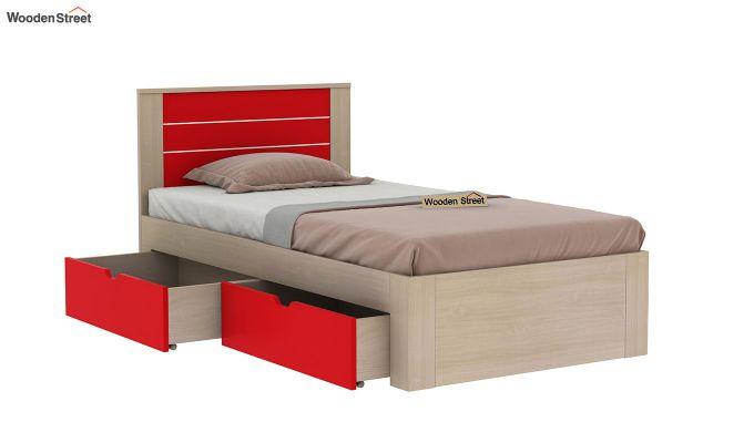 Marina Kids Bed With Storage (Cardinal Red)-4