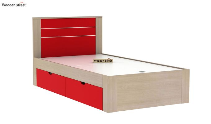 Marina Kids Bed With Storage (Cardinal Red)-5