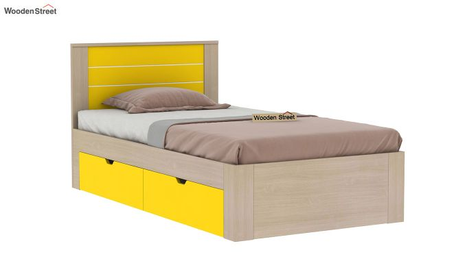 Marina Kids Bed With Storage (Marigold Yellow)-2