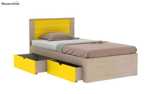 Marina Kids Bed With Storage (Marigold Yellow)-4