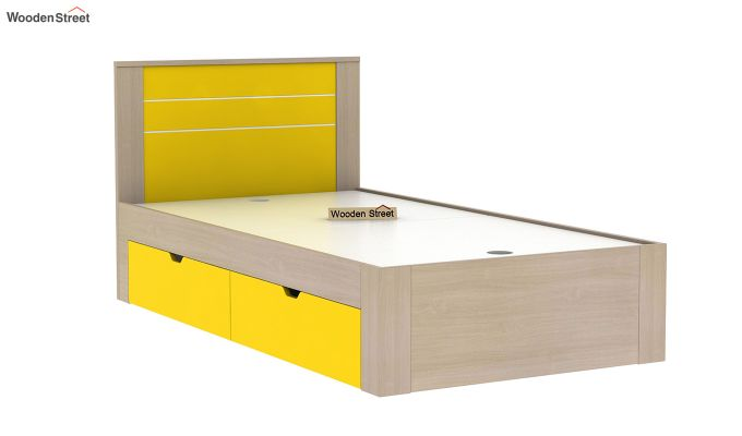 Marina Kids Bed With Storage (Marigold Yellow)-5