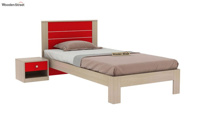 Marina Kids Bed Without Storage (Cardinal Red)-2