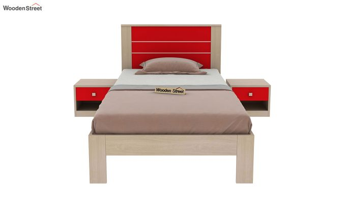 Marina Kids Bed Without Storage (Cardinal Red)-3