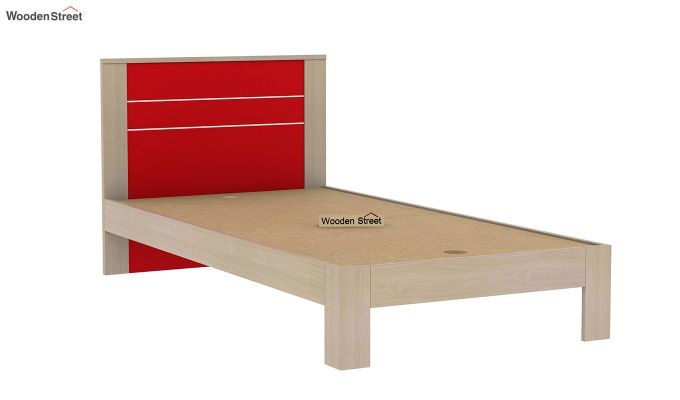 Marina Kids Bed Without Storage (Cardinal Red)-6