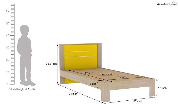 Marina Kids Bed Without Storage (Marigold Yellow)-7