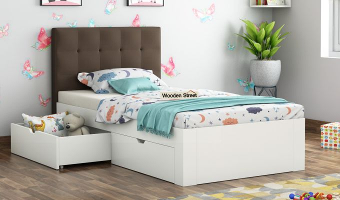 Wagner Kids Bed With Storage (Classic Brown)-1